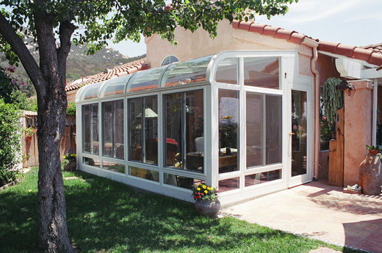 Curved sunroom photo gallery for Cost of solarium